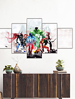 cheap -AMJ hot sale animation series five-line painting living room sofa background wall decoration canvas painting frameless painting core