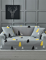cheap -Grey Forest Deer Print Dustproof All-powerful Slipcovers Stretch Sofa Cover Super Soft Fabric Couch Cover with One Free Pillow Case