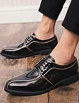 cheap -Men's Patent Leather Spring & Summer / Fall & Winter Business / British Oxfords Walking Shoes Breathable Color Block Gold / Silver / Wedding / Party & Evening