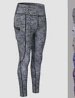 cheap -Women's High Waist Yoga Pants Winter Pocket 3D Print Purple Green Blue Black Gray Running Fitness Gym Workout Tights Leggings Sport Activewear Quick Dry Butt Lift Tummy Control High Elasticity Skinny