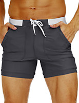 cheap -Men's Swim Shorts Swim Trunks Bottoms Breathable Quick Dry Swimming Water Sports Patchwork Summer / Stretchy
