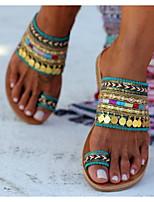 cheap -Women's Sandals Boho Flat Heel Round Toe PU Summer Green