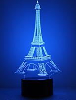 cheap -Irregular 3D Nightlight LED Night Light Color-Changing / Creative / with USB Port Button USB 1pc