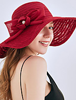 cheap -Vintage Style Fashion Straw Hats / Headwear with Bowknot / Lace / Trim 1 Piece Wedding / Outdoor Headpiece