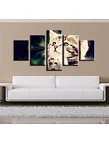 cheap -5 Pieces Printing Decorative Painting  Oil Painting  Home Decorative Wall Art Picture Paint on Canvas Prints Animals Pets