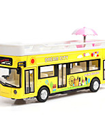 cheap -1:32 Toy Car Music Bus Creative Bus Creative Exquisite Parent-Child Interaction Zinc Alloy Rubber Boys' Girls'