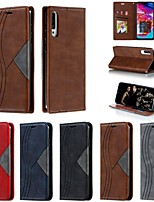 cheap -Case For Samsung Galaxy  A7(2018) / A30(2019) / A70S(2019) Wallet / Card Holder / Shockproof Full Body Cases Geometric Pattern PU Leather Case For Samsung Galaxy  A10S / A20E / A20S / A30S /A40 /A50