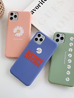 cheap -Case For Apple iPhone 11 / iPhone 11 Pro / iPhone 11 Pro Max Shockproof / Ultra-thin Back Cover Word / Phrase / Solid Colored / Flower TPU