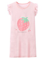 cheap -Kids Girls' Cartoon Fruit Dress Blushing Pink
