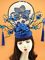 cheap -Mix Fascinators with Flower 1 Piece Wedding / Tea Party Headpiece