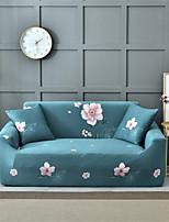 Недорогие -зеленый цветочный принт пыленепроницаемый всесильный чехлы из эластичного чехла для дивана супер мягкий чехол из ткани с одной бесплатной наволочкой