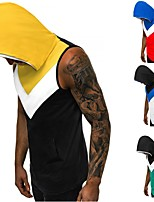 cheap -Men's Tank Top Color Block Black White Green Red Cotton Yoga Running Fitness Tank Top Sleeveless Sport Activewear Breathable Quick Dry Comfortable Micro-elastic Slim