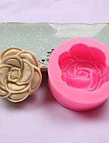 cheap -1pcs Rose 3D Fondant Cake Silicone Mold Decoration DIY