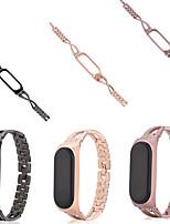 cheap -Watch Band for Mi Band 3 / Xiaomi Band 4 / Xiaomi Mi Band 4 Xiaomi Jewelry Design Stainless Steel Wrist Strap