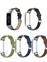 cheap -Watch Band for Samsung Galaxy Fit E SM-R375 Samsung Galaxy Classic Buckle Genuine Leather Wrist Strap