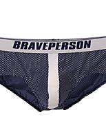 cheap -Men's Basic Briefs Underwear - Normal Low Waist White Orange Blue S M L