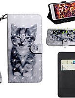 cheap -Case For Samsung Galaxy S9 / S9 Plus / S8 Plus Wallet / Card Holder / with Stand Full Body Cases Cat PU Leather / TPU
