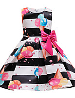 cheap -Kids Toddler Girls' Basic Cute Floral Print Sleeveless Knee-length Dress Black