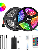 cheap -2x5M Flexible LED Light Strips / Light Sets / RGB Strip Lights 300 LEDs SMD5050 10mm 1 12V 6A Adapter / 1 24Keys Remote Controller 1 set Multi Color Waterproof / Cuttable / Party 85-265 V