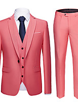 cheap -Tuxedos Tailored Fit Notch Single Breasted One-button Polyester Solid Colored / British