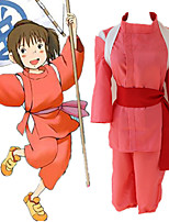 cheap -Inspired by Spirited Away Chihiro Ogino Anime Cosplay Costumes Japanese Cosplay Suits Top Pants Belt For Women's