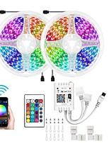 cheap -KWB 10m Light Sets / Smart Lights 300 LEDs 5050 SMD 10mm 1 set RGB APP Control / Creative / Cuttable 12 V