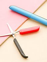 cheap -Pen Shape Foldable Scissors Portable Right Left Hand Scissors Knife for School Sudent Office Use Gift Idea