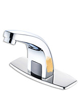 cheap -Bathroom Sink Faucet - Touch / Touchless Electroplated Deck Mounted Single Handle One HoleBath Taps