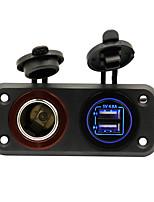 Недорогие -Iztoss Автомобиль Автомобильное зарядное устройство / Прикуриватель 2 USB порта для 5 V