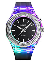 cheap -SKMEI Women's Quartz Watches Fashion Colorful Black White Blue Silicone Chinese Quartz Purple Blushing Pink Blue Water Resistant / Waterproof Luminous New Design 50 m 1 pc Analog One Year Battery Life