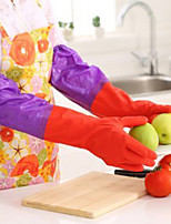 cheap -1 pair 50cm Long Sleeves Rubber Latex Gloves Kitchen Wash Dishes Cleaning Waterproof