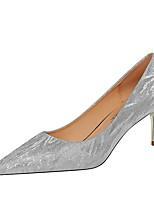 cheap -Women's Heels Stiletto Heel Pointed Toe PU Summer Champagne / Silver