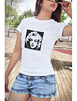 cheap -Inspired by Funny Slogan Audrey Hepburn Marilyn Monroe Cosplay Costume T-shirt Polyster Print Printing T-shirt For Women's