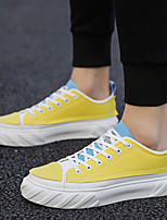 cheap -Men's Comfort Shoes Canvas Spring & Summer / Fall & Winter Preppy Sneakers Walking Shoes Shock Absorbing Black / Yellow / Green