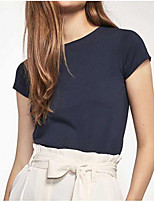 cheap -Women's Daily T-shirt - Solid Colored White