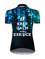 cheap -21Grams Women's Short Sleeve Cycling Jersey 100% Polyester Black / Orange Novelty Bike Jersey Top Mountain Bike MTB Road Bike Cycling UV Resistant Breathable Quick Dry Sports Clothing Apparel