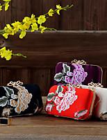 Недорогие -Жен. Аппликации Сплав Вечерняя сумочка Сплошной цвет Красный / Золотой / Темно-лиловый