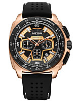 cheap -Men's Sport Watch Quartz Formal Style Stylish Silicone Black 30 m Calendar / date / day Chronograph New Design Analog Luxury Fashion - Gold White Black / Shock Resistant / Stopwatch