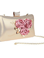 cheap -Women's Crystals / Flower Polyester / Alloy Evening Bag Floral Print Black / Gold / Silver