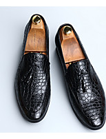 cheap -Men's PU Spring & Summer Casual Loafers & Slip-Ons Walking Shoes Breathable Black / Brown