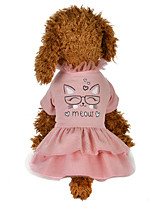cheap -Dog Costume Dress Dog Clothes Breathable Pink Costume Beagle Bichon Frise Chihuahua Cotton Character Party Cute XS S M L XL