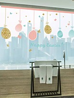 cheap -Happy Eastern Wall Stickers Plane Wall Stickers Decorative Wall Stickers PVC Home Decoration Wall Decal Wall / Window Decoration 1pc
