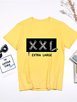 cheap -Women's Daily Sports Basic / Street chic T-shirt - Cartoon / Letter Print Black
