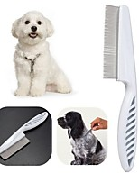 cheap -2pcs Dog Pet Hair Grooming Comb Flea Shedding Brush Puppy Cat Dog Handhold Stainless Hair Combs Cat Dog Bath Cleaning Supplies