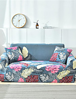 cheap -Blue Leaves Print Dustproof All-powerful Slipcovers Stretch Sofa Cover Super Soft Fabric Couch Cover with One Free Pillow Case