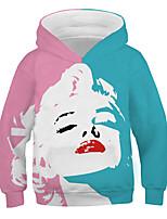 cheap -Kids Boys' Basic Street chic Color Block 3D Print Long Sleeve Hoodie & Sweatshirt Rainbow