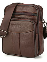 cheap -Men's Zipper PU Top Handle Bag Solid Color Brown / Dark Brown