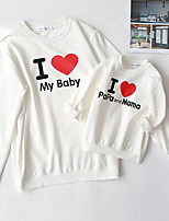 cheap -Mommy and Me Letter Clothing Set White