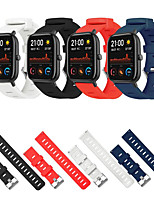 cheap -20mm Sport Silicone Watchband Strap for Amazfit GTS Smart Watch Replace Strap