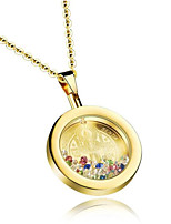 cheap -Men's Women's Synthetic Amethyst Pendant Necklace Classic Faith Fashion Titanium Steel Gold Silver 45+5 cm Necklace Jewelry 1pc For Party Evening Birthday Party